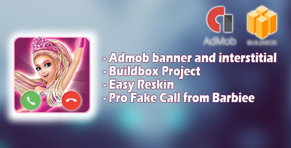 Fake Call from Barbiee - Buildbox project - CodeCanyon Item for Sale