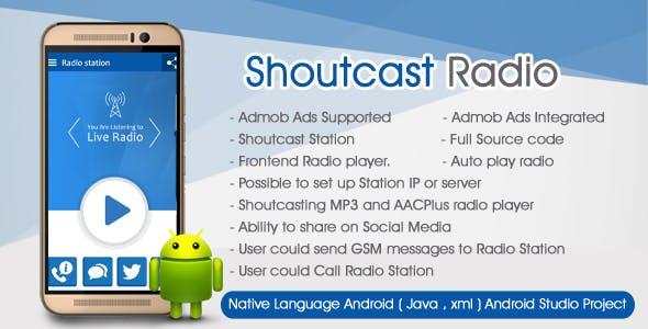 Shoutcast Radio Player Android Admob Ads