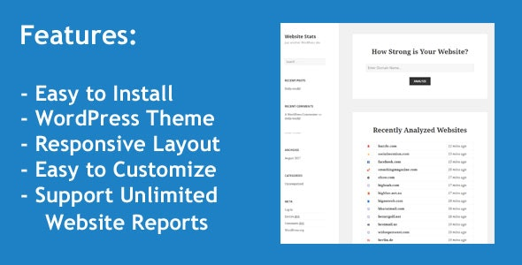 Web Stats - WordPress Theme that can Generate Unlimited Website Analysis Reports - CodeCanyon Item for Sale