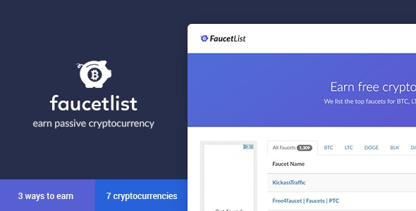 Bitcoin Faucet List by EmberThemes | CodeCanyon