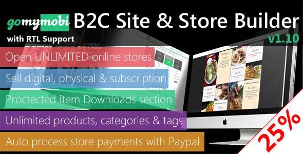 gomymobiBSB v1.13: B2C Site & Store Builder - RTL Support
