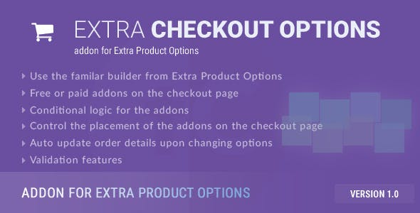 Extra Checkout Options - addon for Extra Product Options