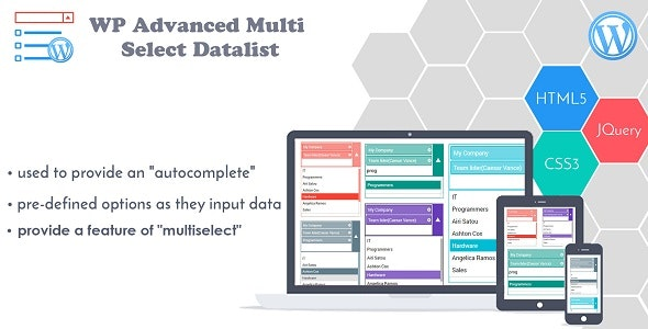 Advanced Multi Select Data List WP - Multiselect Drop-down