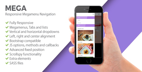MEGA | Responsive Megamenu Navigation - CodeCanyon Item for Sale