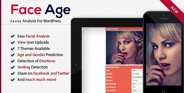 Face Age - WordPress Age, Gender, Emotion, Smile, Hair, Glasses and Makeup Detection - CodeCanyon Item for Sale