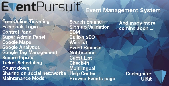Event Pursuit by Ardawan | CodeCanyon