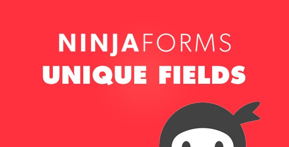 Ninja Forms - Unique Fields - CodeCanyon Item for Sale