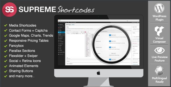 Supreme Shortcodes | WordPress Plugin        Nulled