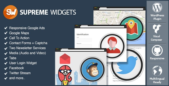 Supreme Widgets Social Marketing WordPress Plugin - CodeCanyon Item for Sale