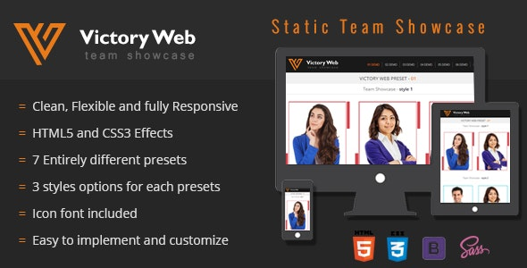 Team Showcase - HTML5 and CSS3 - CodeCanyon Item for Sale