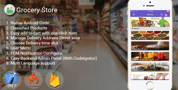 Make A Grocery App With Mobile App Templates from CodeCanyon