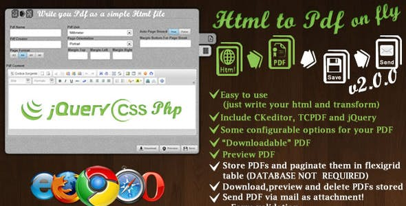 HTML To Pdf Plugins, Code & Scripts from CodeCanyon