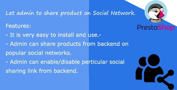Social Sharing admin prestashop
