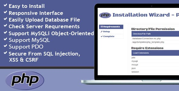 Installation Wizard - PHP