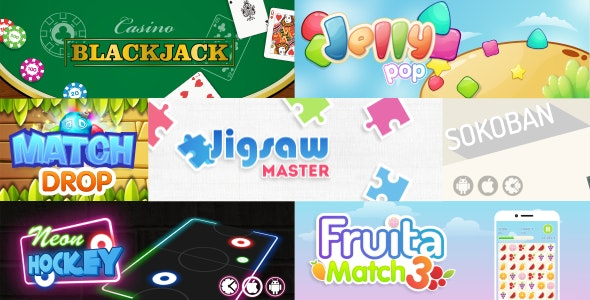 7 HTML5 Games Bundle (Construct 2) - CodeCanyon Item for Sale