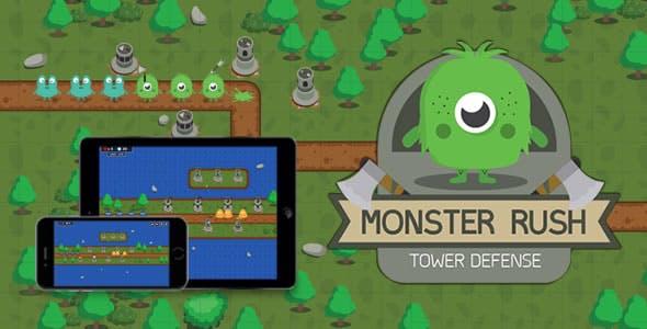 Monster Rush (Tower Defense) - HTML5 Game