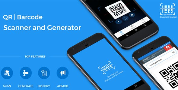 QR code and Barcode scanner and generator for Android with AdMob
