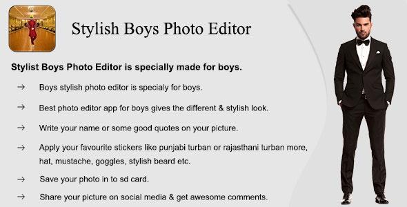 Stylist Boys Photo Editor (Photo Editing App) - CodeCanyon Item for Sale