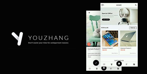 Youzhang - Ionic 3 Catalogue Template