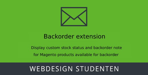 Back order Extension - Magento 2