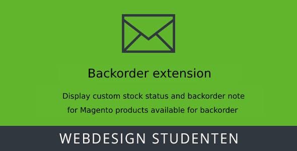 Back order Extension - Magento 2