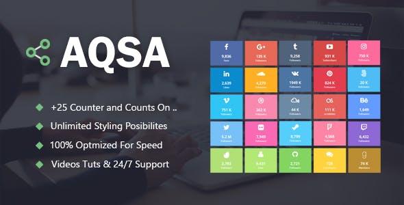 Aqsa - Social Counter Plugin For WordPress