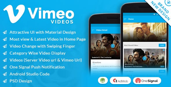 Vimeo Video App with Material Design