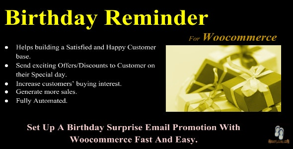 Birthday Reminder For Woocommerce - CodeCanyon Item for Sale