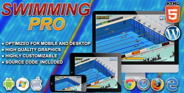 Swimming Pro - HTML5 Sport Game - CodeCanyon Item for Sale