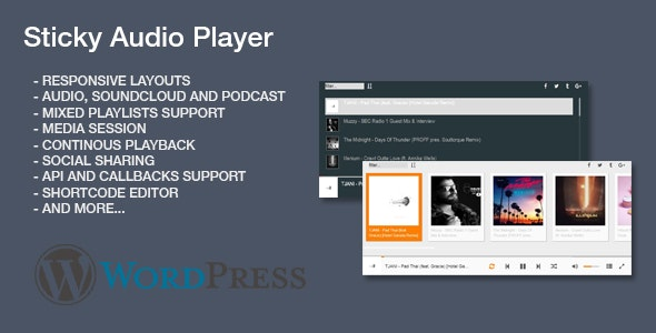 Sticky Audio Player for Wordpress by Tean | CodeCanyon
