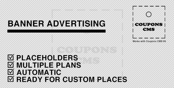 Banner Advertising for Coupons CMS - CodeCanyon Item for Sale