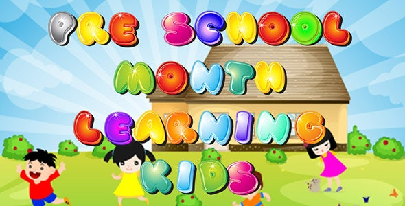 Pre School Learn Months Game - IOS - Android - CodeCanyon Item for Sale