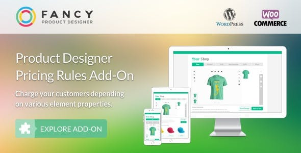 Fancy Product Designer Pricing Add-On | WooCommerce WordPress