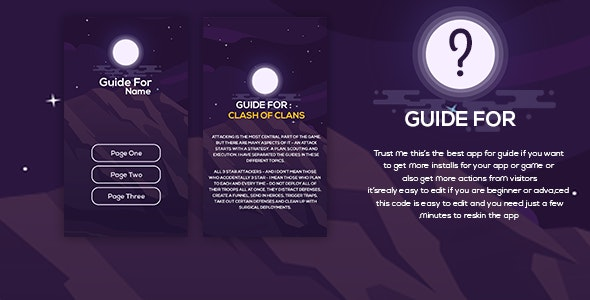 Guide For / How to / Tips For - New App Guide With UI PSD ( For Android) - CodeCanyon Item for Sale