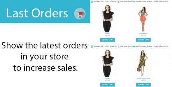 Last Orders Prestashop Module