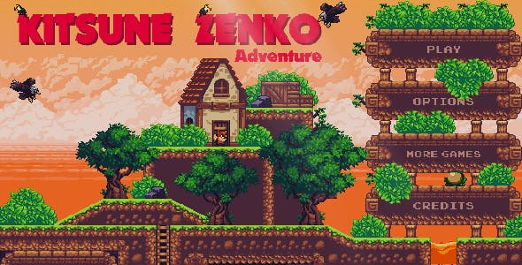 Kitsune Zenko Adventure - HTML5 Platform Game