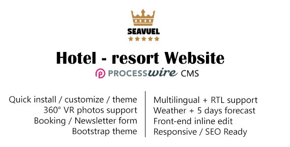 SeaVuel | Multilingual - Hotel website with CMS | Bootstrap 4 theme - CodeCanyon Item for Sale