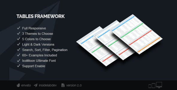 Tables Framework