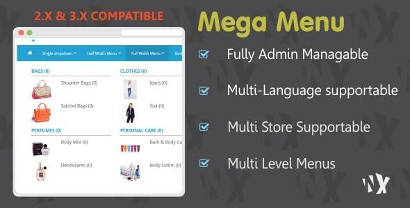 Mega Menu - 2x & 3x