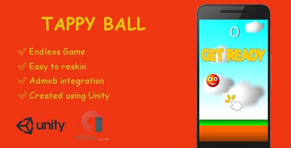 TappyBall Game ( Android - Unity - Admob )
