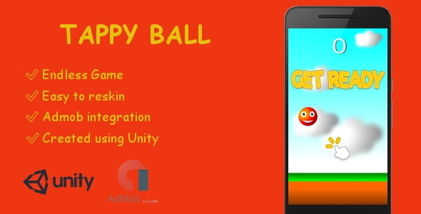 TappyBall Game ( Android - Unity - Admob ) - CodeCanyon Item for Sale