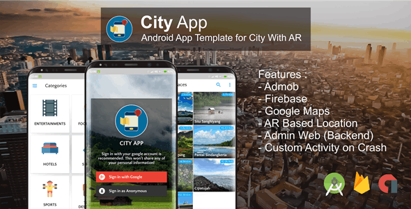 City App (Firebase, Admob, Augmented Reality)