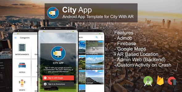 City App (Firebase, Admob, Augmented Reality)