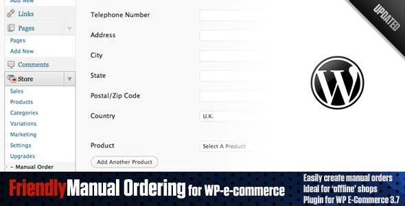 Friendly Manual Order Processing for WP E-Commerce - CodeCanyon Item for Sale