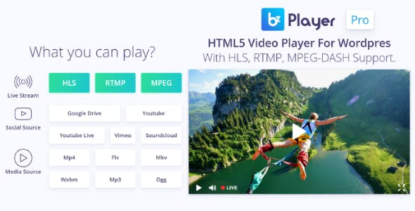 bzplayer Pro - Live Streaming Player WordPress Plugin