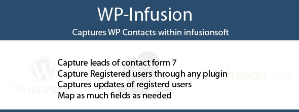 WP-Infusion - Captures WP Contacts within infusionsoft - CodeCanyon Item for Sale