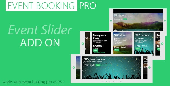 Event Booking Pro : Event Slider Addon - CodeCanyon Item for Sale