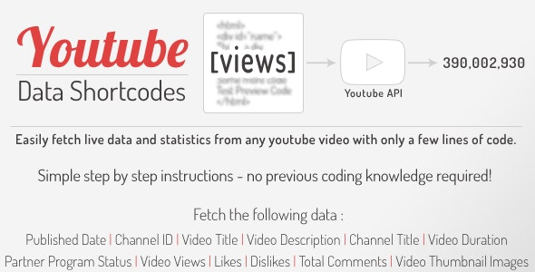 YouTube Data API Shortcodes - jQuery Plugin - CodeCanyon Item for Sale