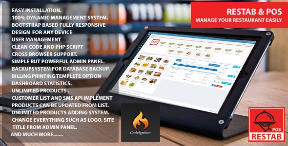 Restab & POS - CodeCanyon Item for Sale