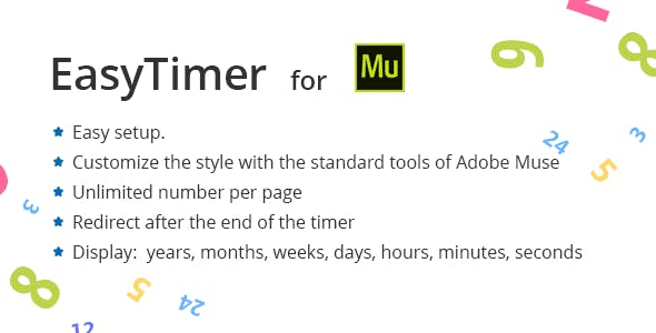 Easy Countdown Timer for Adobe Muse
